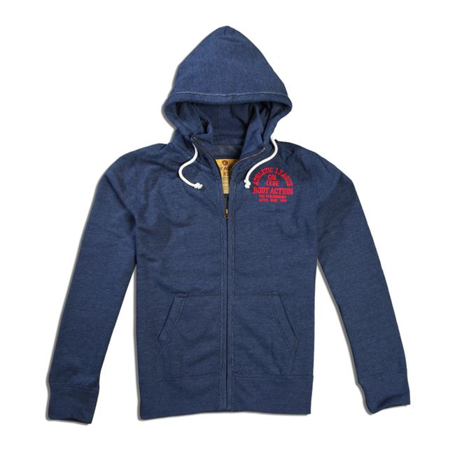 0ad42b4e3f4a Body Action Men Mock Neck Collar Hoodie Jacket 073504   Ζακέτες